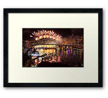Sydney NYE Fireworks 2015 # 19 Framed Print