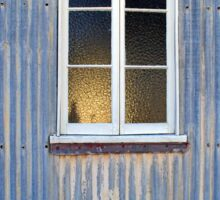 Window in a Corrugated Iron Wall Sticker