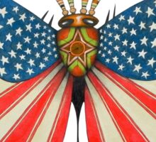 patriot moth - original sold Sticker