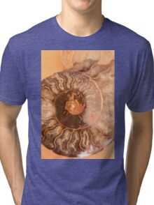 abstract background with mineral stones Tri-blend T-Shirt
