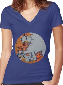 cipher n. 5 (original sold) Women's Fitted V-Neck T-Shirt