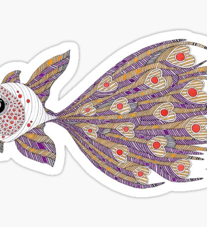Fish of hearts  (original sold) Sticker