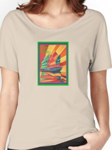 Happy Birthday Sail Away Junk Pleasure Boat Women's Relaxed Fit T-Shirt