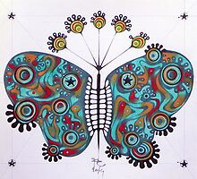 constellation butterfly  (original sold) by federico cortese