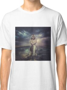 naked mermaid sitting on a deserted road Classic T-Shirt