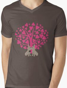 Kissing French Bulldogs! Cute Valentines Day Design Mens V-Neck T-Shirt