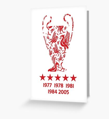 Liverpool FC - Champions League Winners Greeting Card