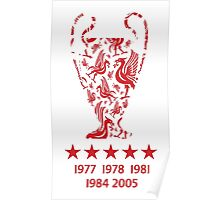 Liverpool FC - Champions League Winners Poster