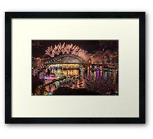 Sydney NYE Fireworks 2015 # 16 Framed Print