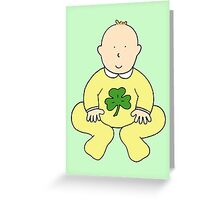 St Patrick's Day baby. Greeting Card