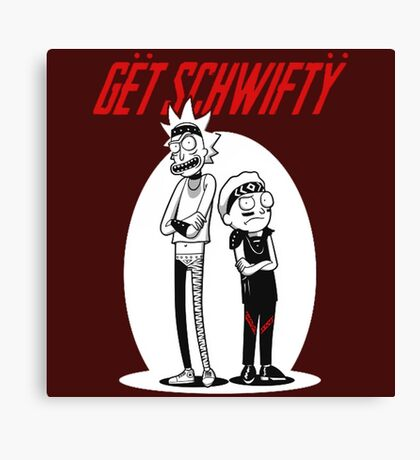 Morty Get Schwifty Quote Canvas Print