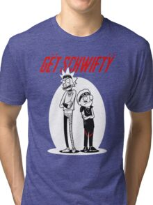 Morty Get Schwifty Quote Tri-blend T-Shirt
