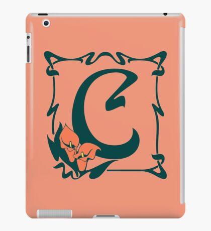 Fancy art nouveau letter C, flower iPad Case/Skin