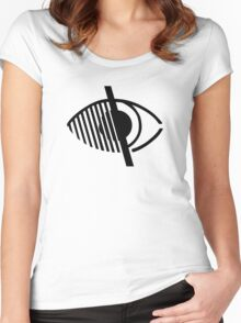 Blindness Symbol Women's Fitted Scoop T-Shirt
