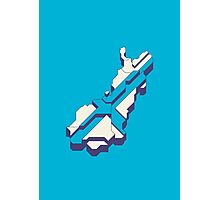 Finland Isometric Map (Cyan) Photographic Print