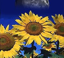 moon sunflower by arteology