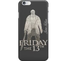 Hand Drawn Friday The 13th Design iPhone Case/Skin