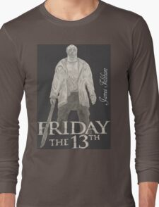 Hand Drawn Friday The 13th Design Long Sleeve T-Shirt