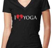 I Love Yoga Women's Fitted V-Neck T-Shirt
