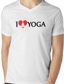 I Love Yoga Mens V-Neck T-Shirt