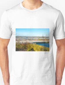 Derbyshire Countryside Winter England  Unisex T-Shirt