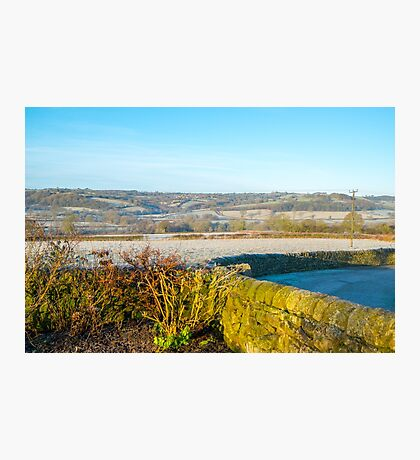 Derbyshire Countryside Winter England  Photographic Print