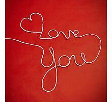 Love You yarn postcard Photographic Print