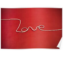 Love yarn postcard Poster