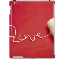 Love You yarn postcard iPad Case/Skin