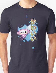 Kawaii Kute Hungry Monkey Blue Unisex T-Shirt