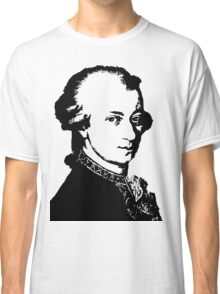 Wolfgang Amadeus Mozart silhouette black and white Classic T-Shirt