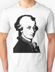 Wolfgang Amadeus Mozart silhouette black and white Unisex T-Shirt