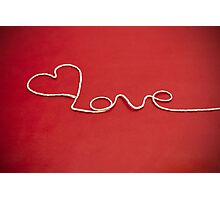 Love hearth yarn postcard Photographic Print