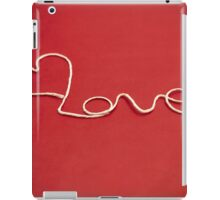 Love hearth yarn postcard iPad Case/Skin