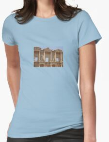 Ephesus - Library Facade Womens Fitted T-Shirt