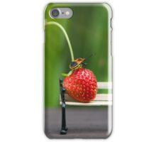 Small world ( strawberry and bug ) iPhone Case/Skin