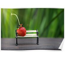 Small world ( strawberry and bug ) Poster
