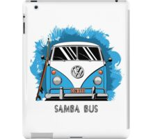 VW T1 Samba Bus (blue) iPad Case/Skin