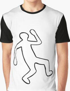Crime Scene Body Outline Graphic T-Shirt