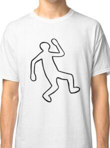 Crime Scene Body Outline Classic T-Shirt
