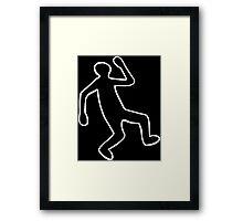 Crime Scene Body Outline Framed Print