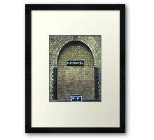 harry potter platform Framed Print