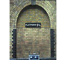 harry potter platform Photographic Print
