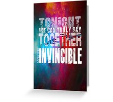 Muse Invincible Greeting Card