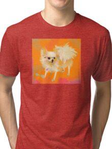 Dog Chihuahua Orange Tri-blend T-Shirt