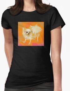 Dog Chihuahua Orange Womens Fitted T-Shirt