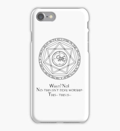 This isn't devil worship iPhone Case/Skin