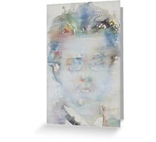 GUSTAV MAHLER - watercolor portrait Greeting Card