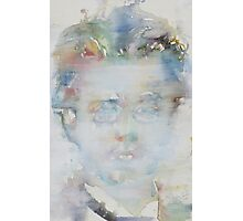 GUSTAV MAHLER - watercolor portrait Photographic Print