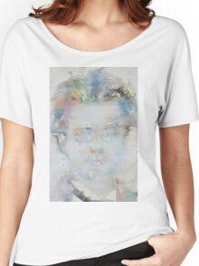 GUSTAV MAHLER - watercolor portrait Women's Relaxed Fit T-Shirt